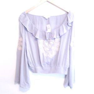 AMERICAN EAGLE WOMENS SZ MEDIUM EMBROIDERED TOP